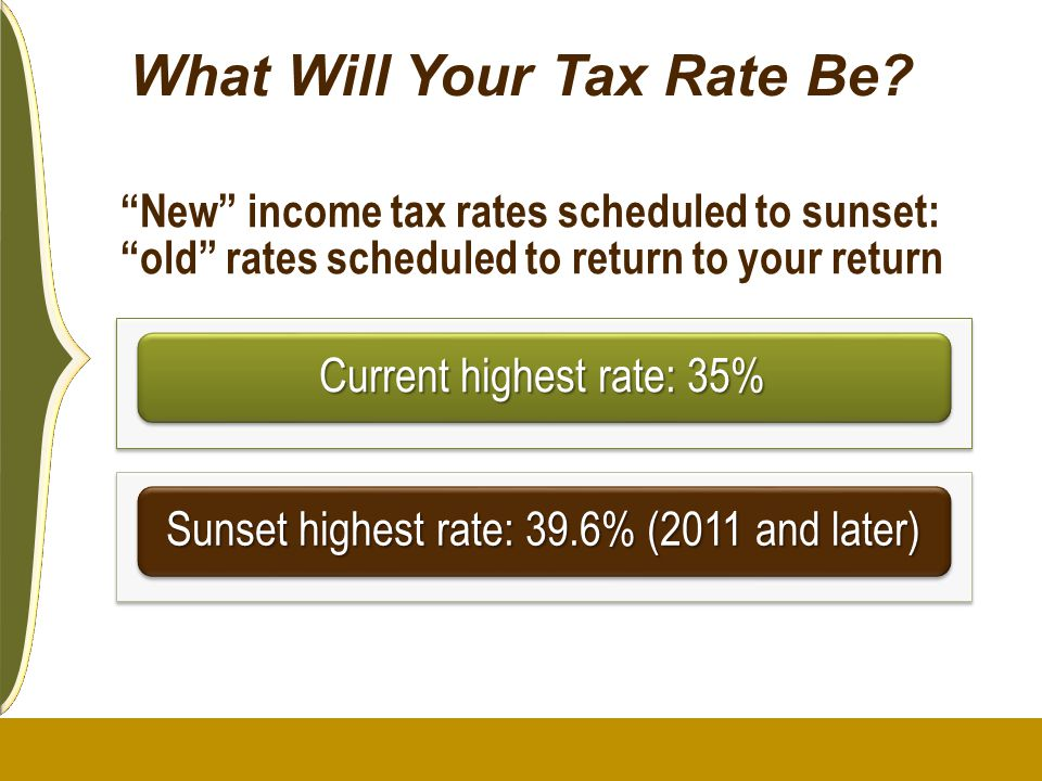 What Will Your Tax Rate Be