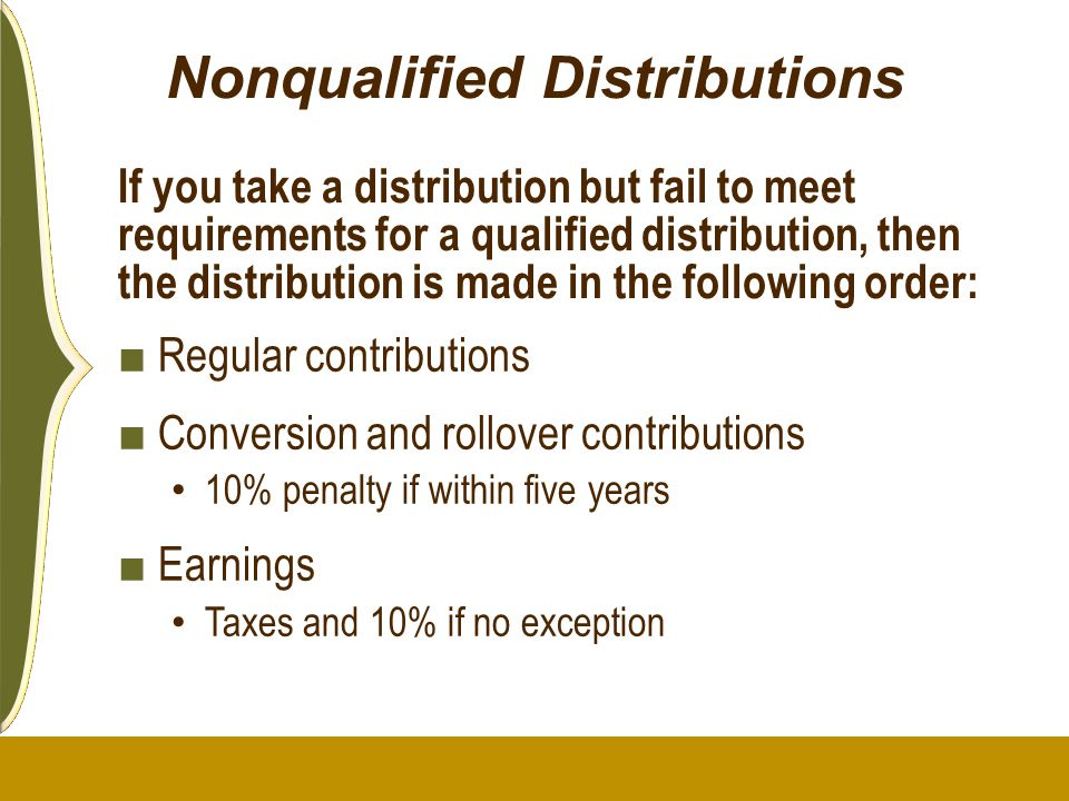 Nonqualified Distributions
