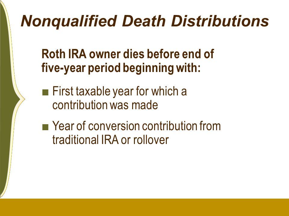 Nonqualified Death Distributions