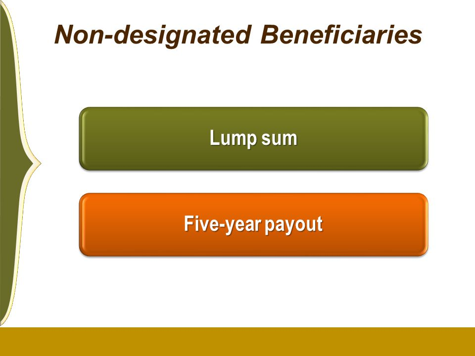 Non-designated Beneficiaries