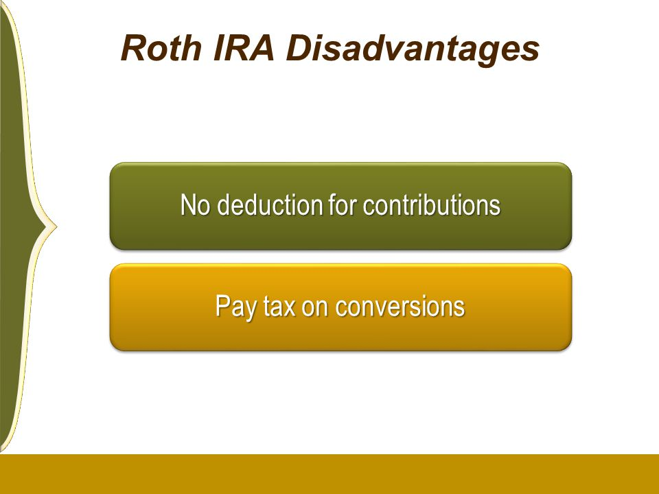 Roth IRA Disadvantages