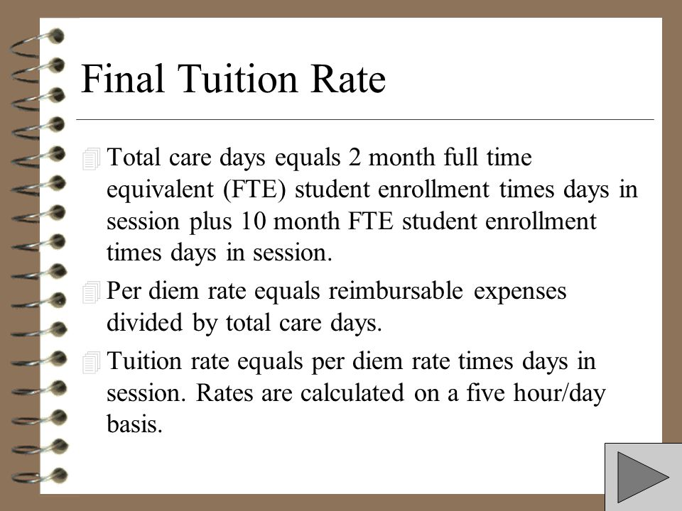 Final Tuition Rate
