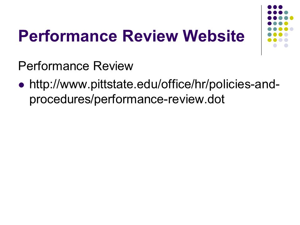 Performance Review Website