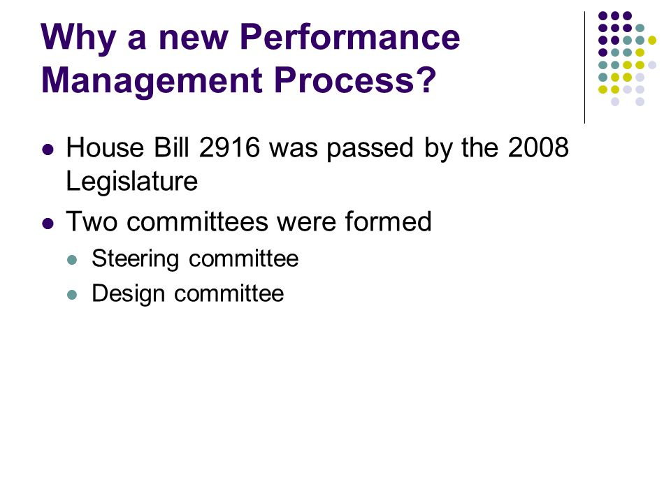 Why a new Performance Management Process