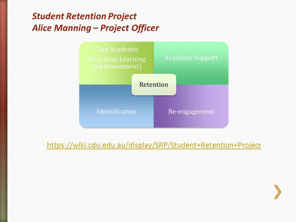 https://wiki.cdu.edu.au/display/SRP/Student+Retention+Project