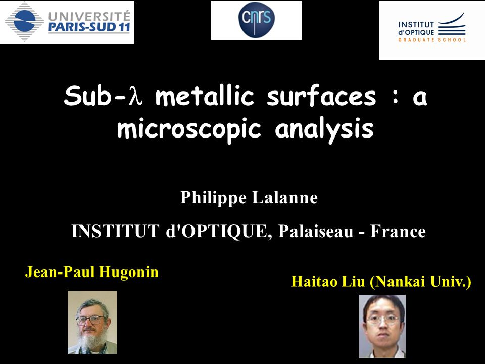 Sub-l metallic surfaces : a microscopic analysis