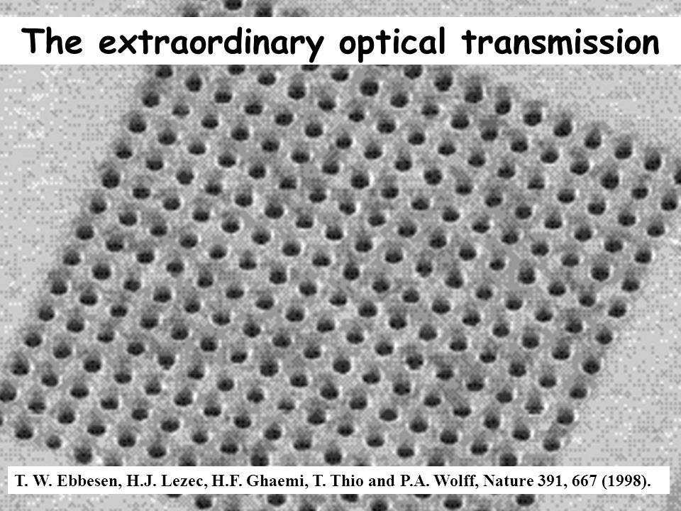 The extraordinary optical transmission
