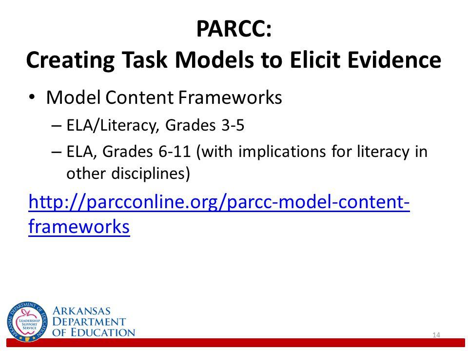 PARCC: Creating Task Models to Elicit Evidence
