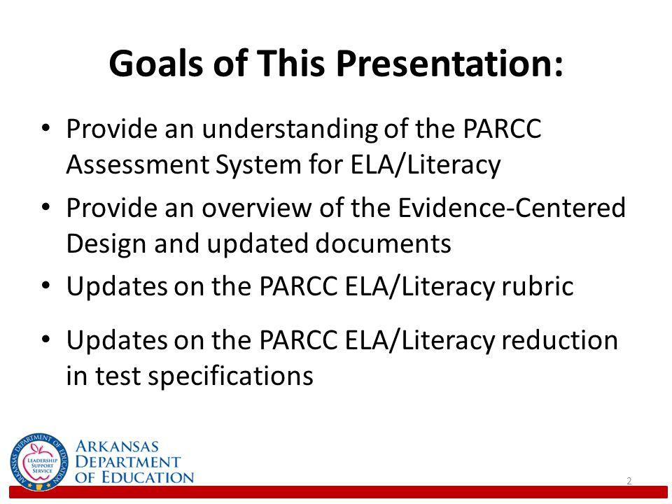 Goals of This Presentation: