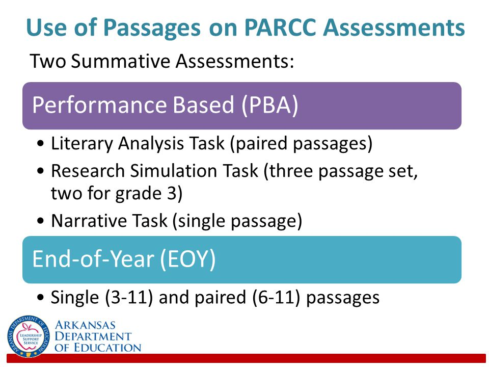 Use of Passages on PARCC Assessments