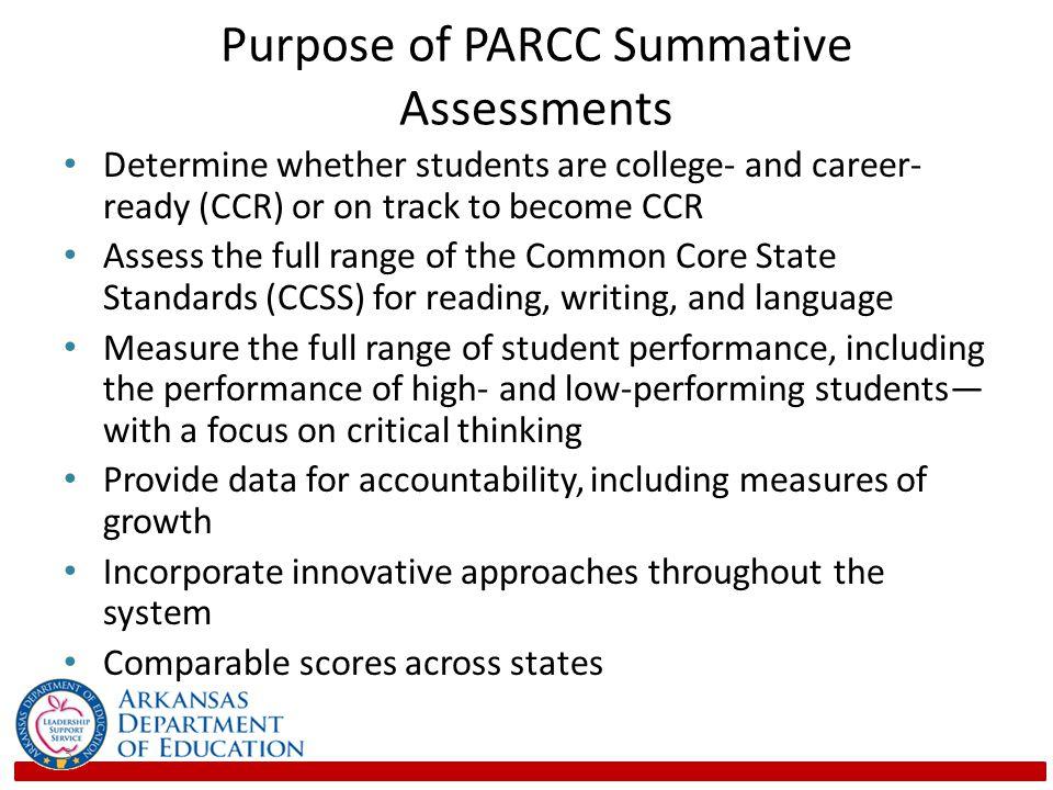 Purpose of PARCC Summative Assessments
