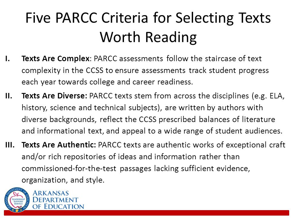 Five PARCC Criteria for Selecting Texts Worth Reading