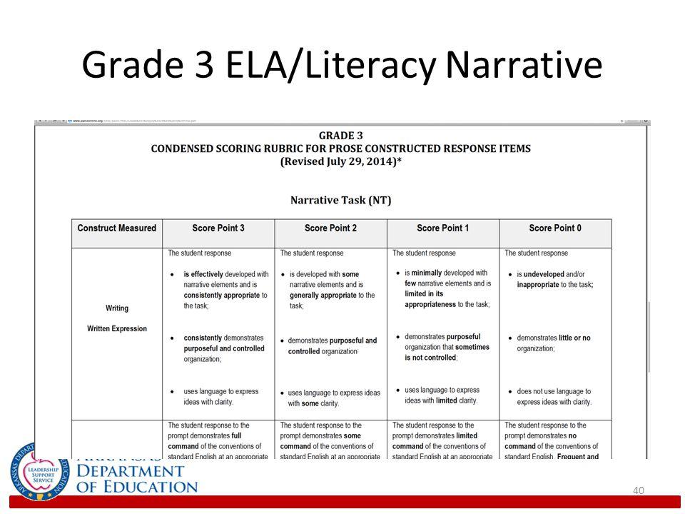 Grade 3 ELA/Literacy Narrative