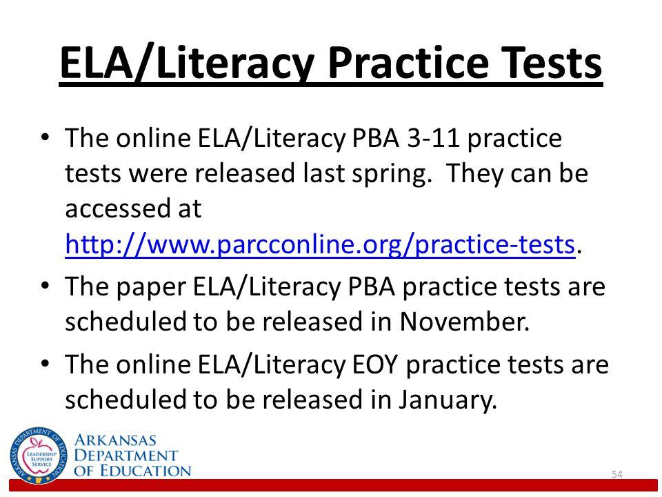 ELA/Literacy Practice Tests
