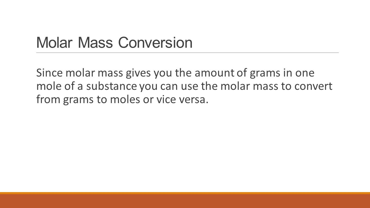 Molar Mass Conversion