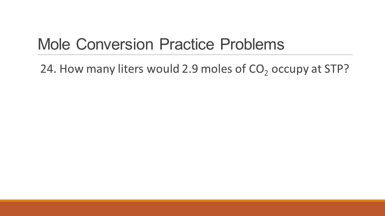 Mole Conversion Practice Problems
