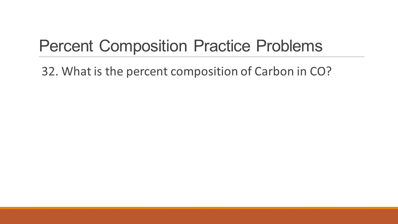 Percent Composition Practice Problems