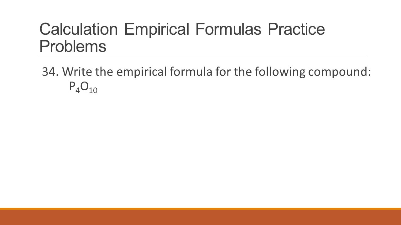 Calculation Empirical Formulas Practice Problems