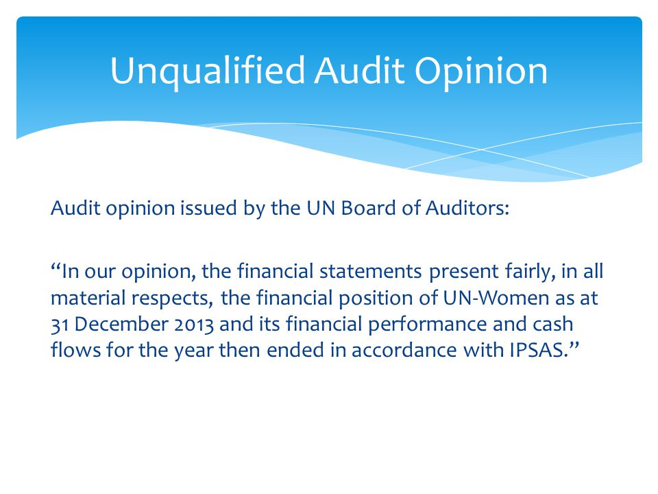 Unqualified Audit Opinion