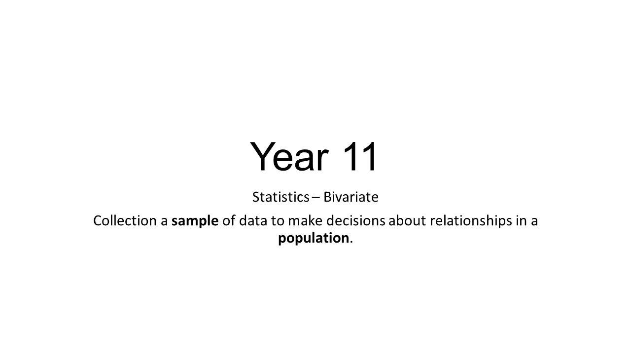 Statistics – Bivariate