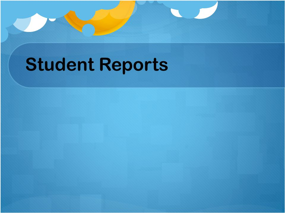 Student Reports Beth