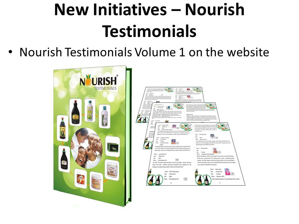New Initiatives – Nourish Testimonials