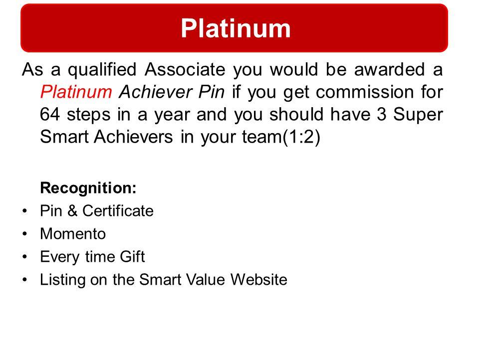 Platinum Recognition: