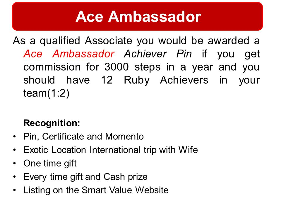 Ace Ambassador Recognition: