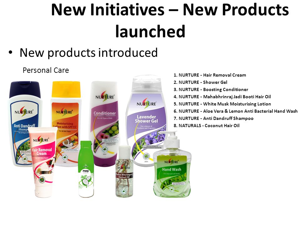 New New Initiatives – New Products launched