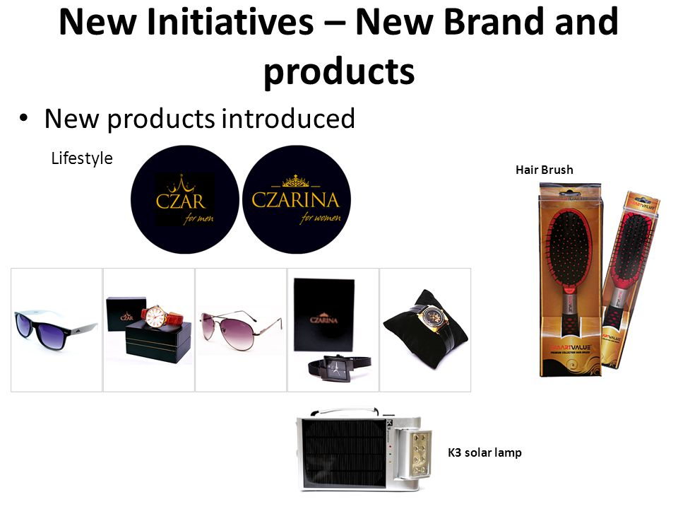 New Initiatives – New Brand and products