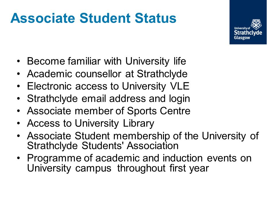 Associate Student Status