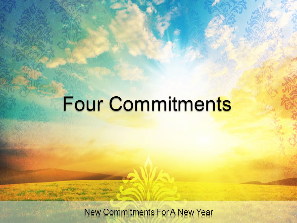 New Commitments For A New Year