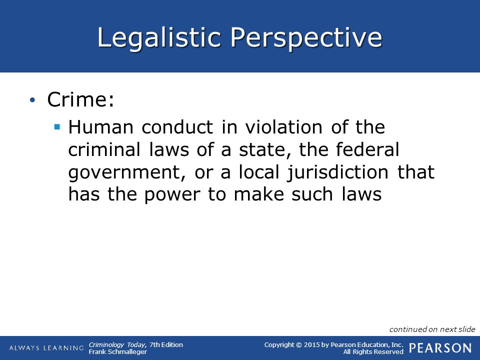 Legalistic Perspective