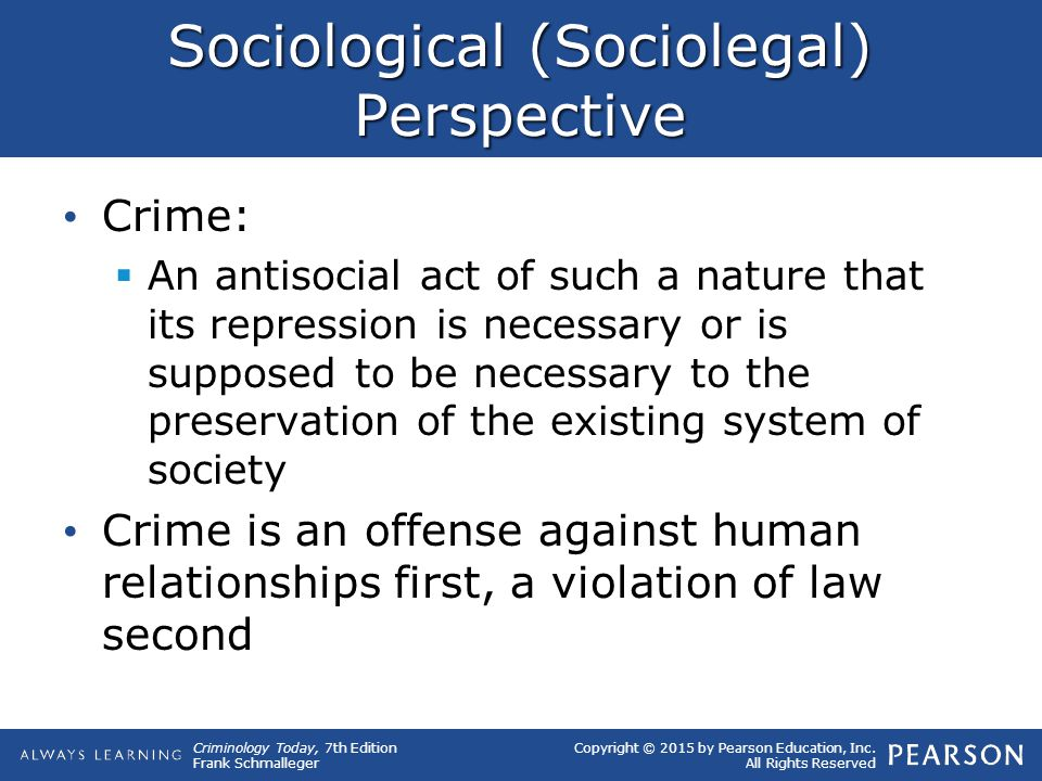 Sociological (Sociolegal) Perspective