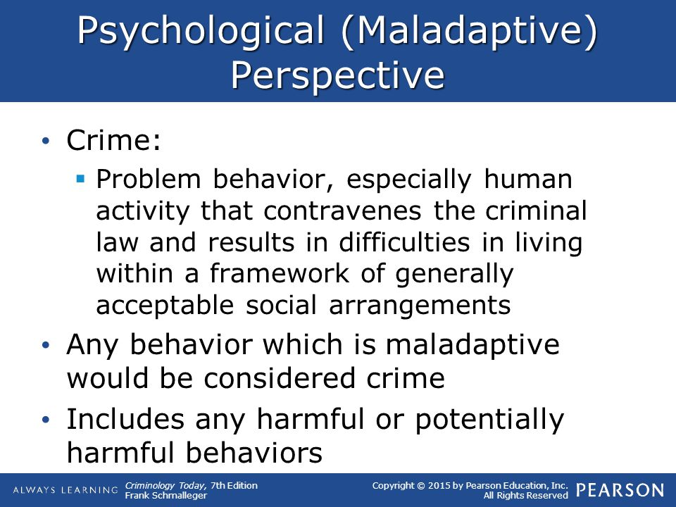 Psychological (Maladaptive) Perspective