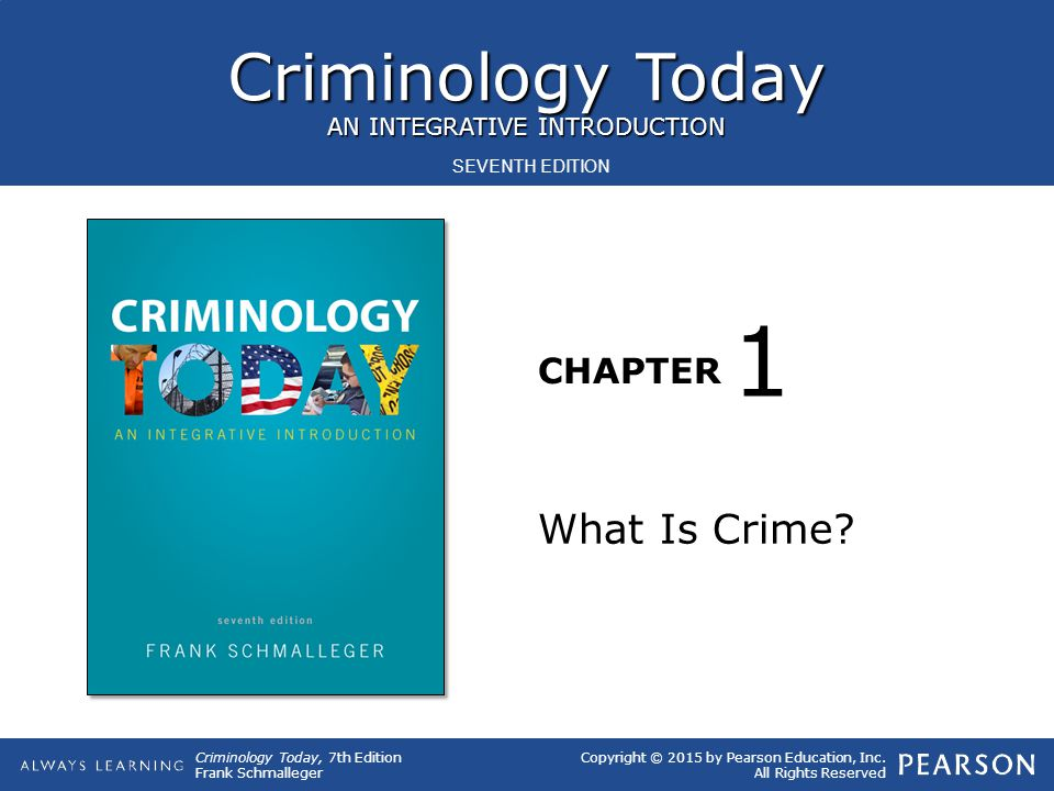 1 What Is Crime