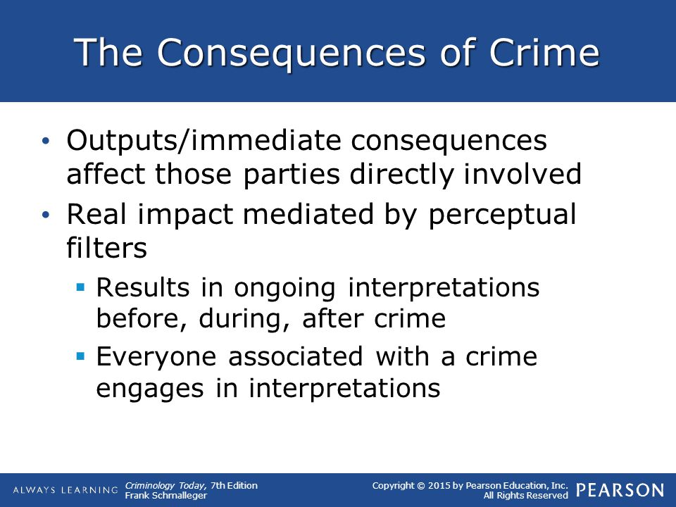The Consequences of Crime