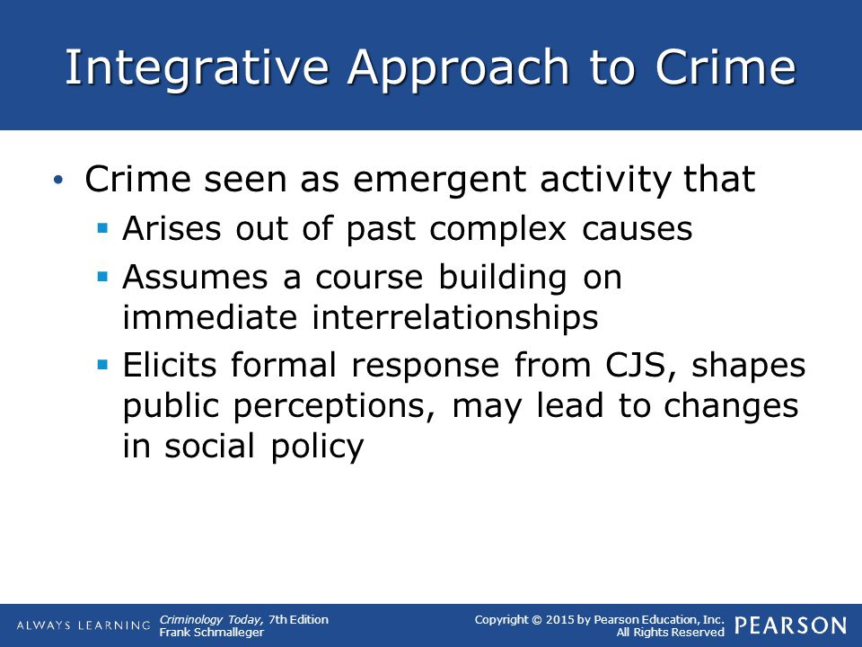 Integrative Approach to Crime