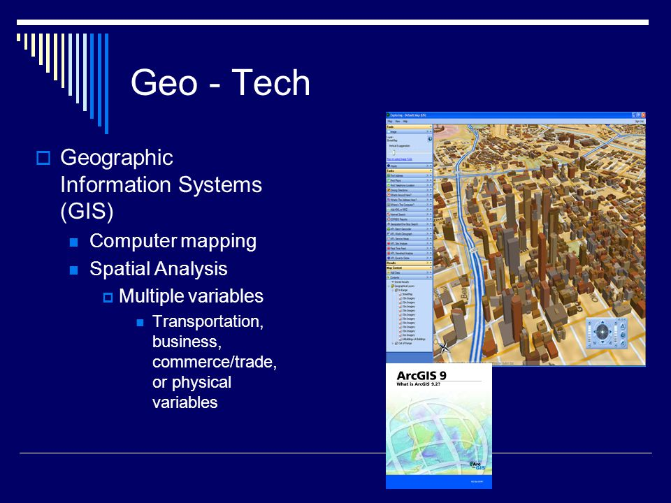 Geo - Tech Geographic Information Systems (GIS) Computer mapping