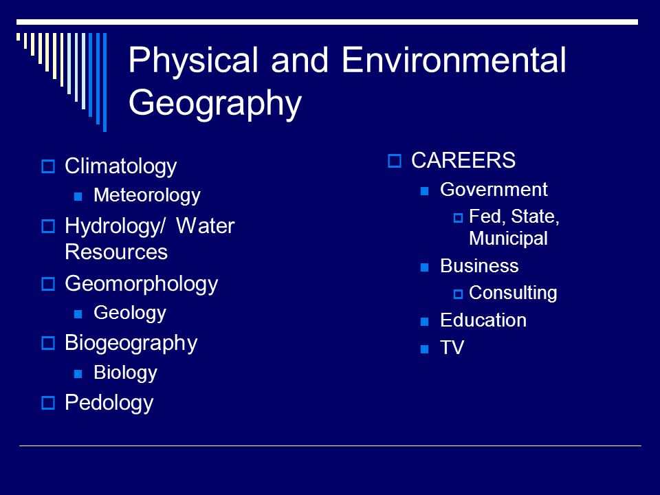 Physical and Environmental Geography