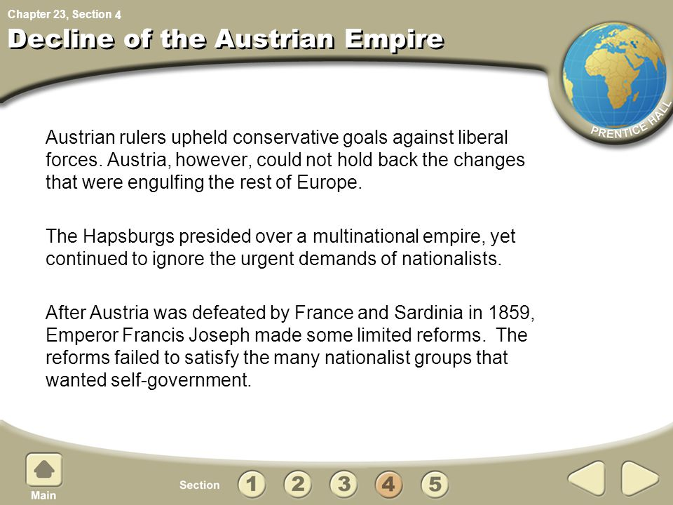 Decline of the Austrian Empire