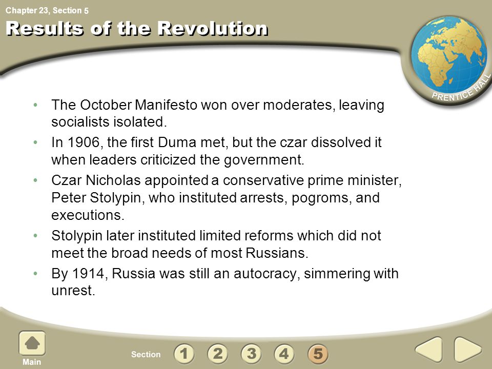Results of the Revolution