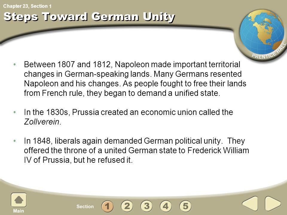 Steps Toward German Unity