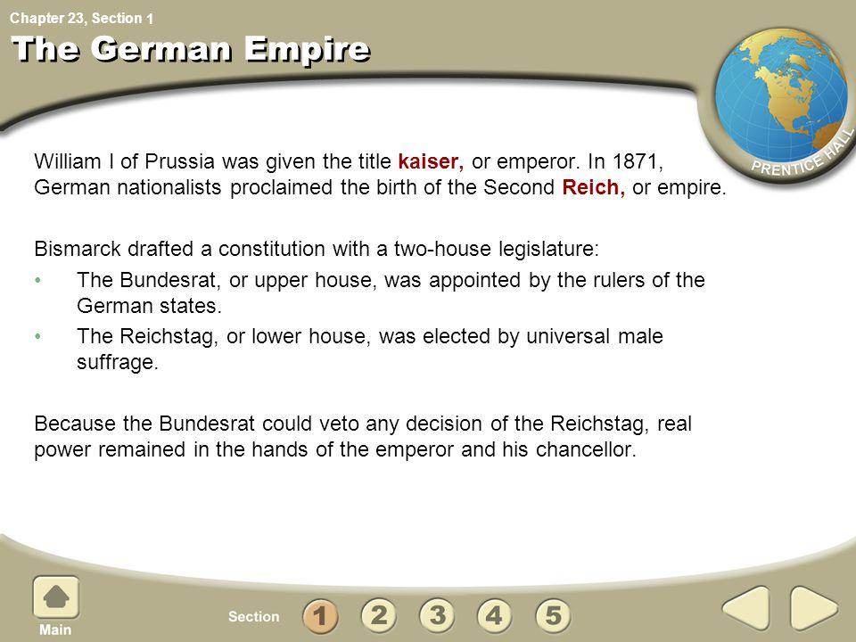 The German Empire 1.