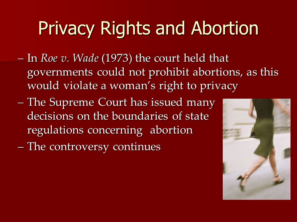 Privacy Rights and Abortion