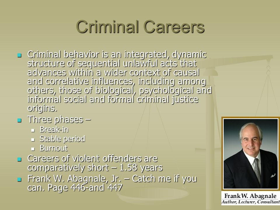 Criminal Careers
