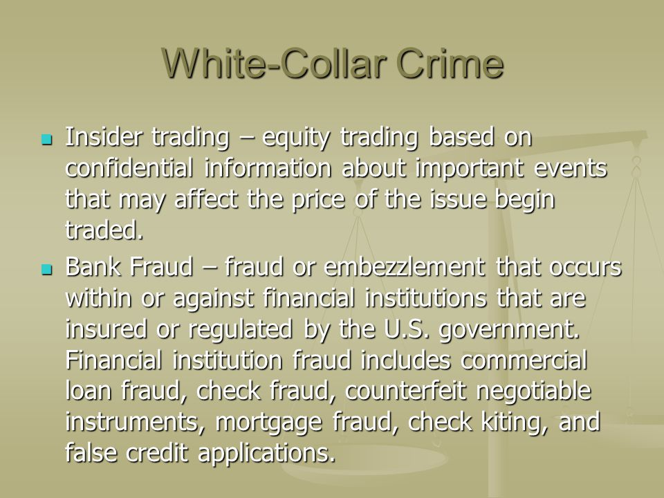 White-Collar Crime
