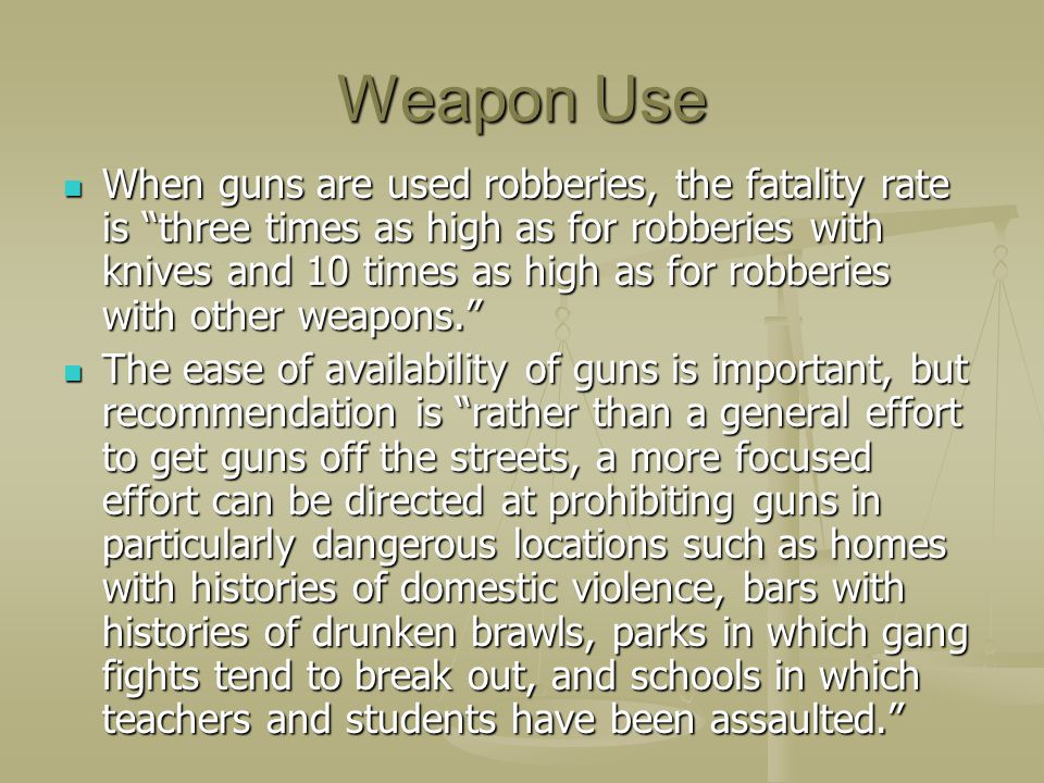 Weapon Use