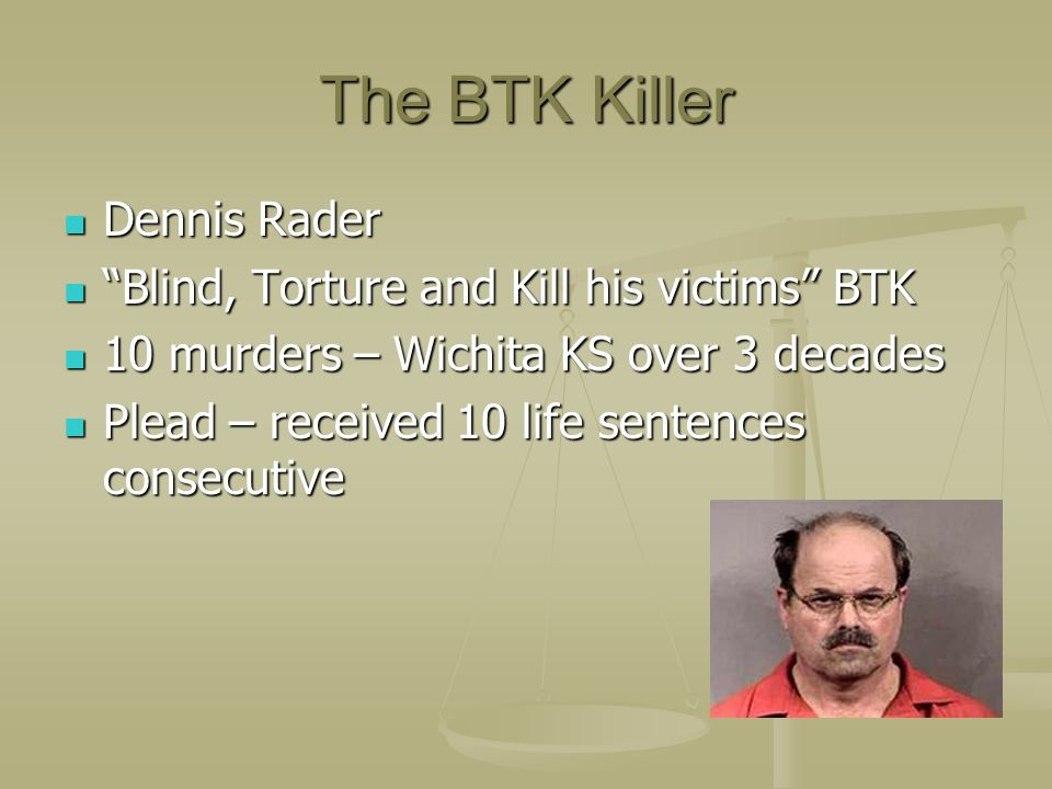 The BTK Killer Dennis Rader Blind, Torture and Kill his victims BTK