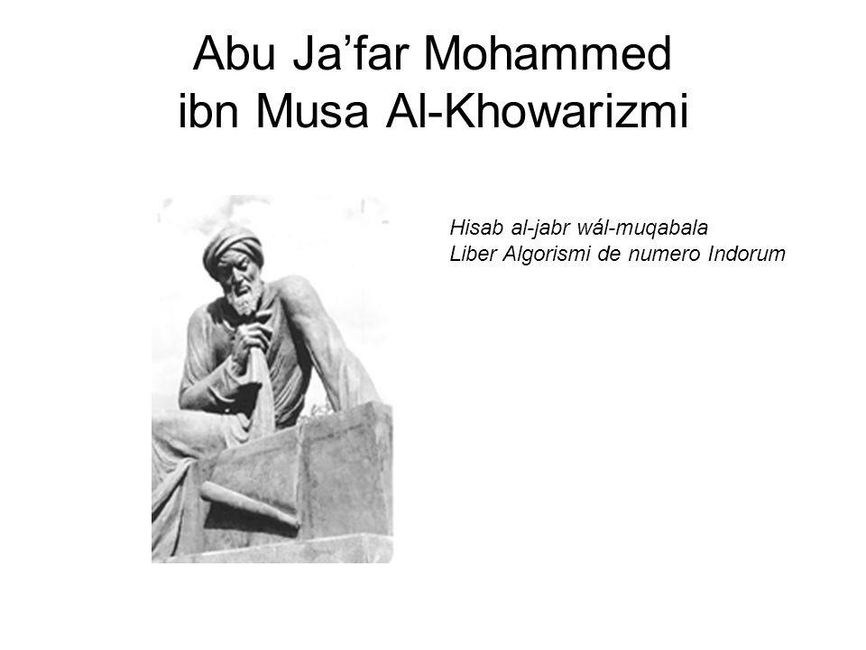 Abu Ja'far Mohammed ibn Musa Al-Khowarizmi